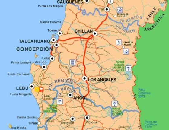 Mapa Ciudad de Los Angeles